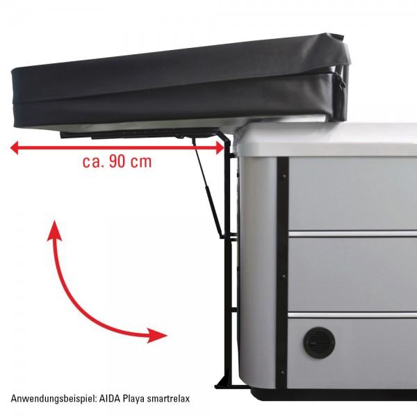 Gasdruckfeder erleichtert das Hoch- und Runterklappen