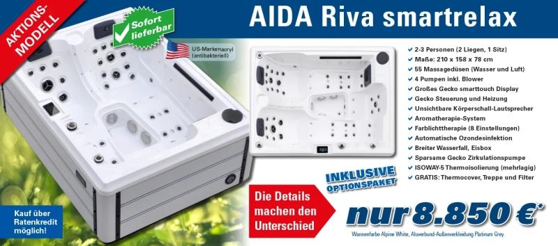Whirlpool Aktion AIDA Riva für 2-3 Personen