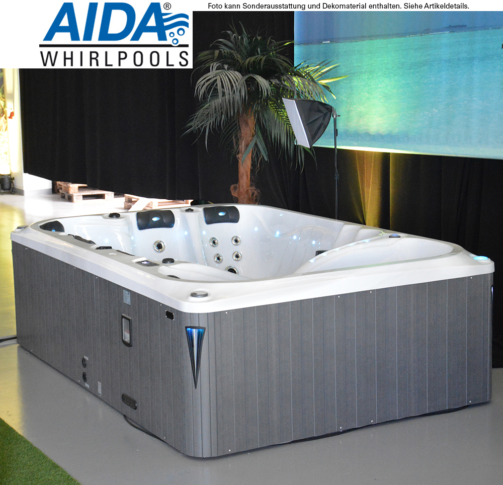 g nstiges ausstellungsst ck whirlpool outdoor 6 personen aida royal aida gmbh. Black Bedroom Furniture Sets. Home Design Ideas