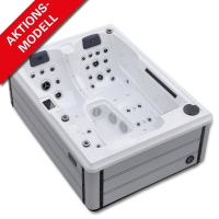Outdoor-Whirlpool für 2-3 Personen, AIDA Riva smartrelax in Alpine White