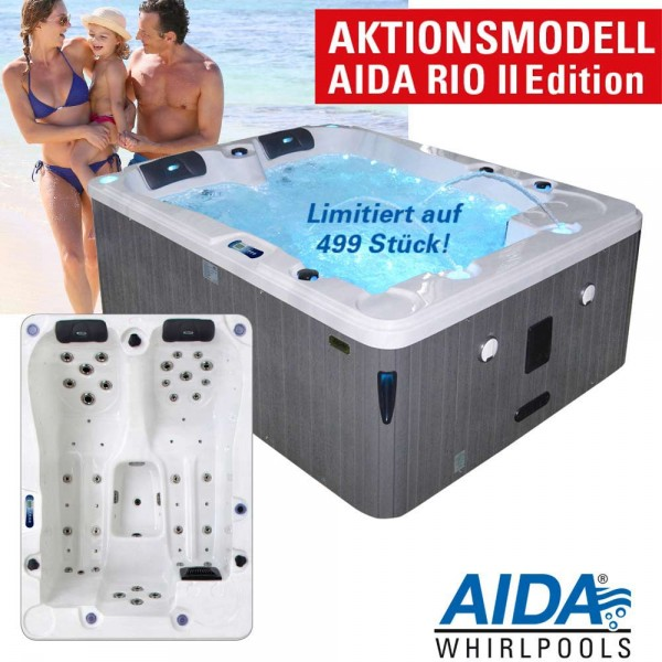 Aktionsmodell AIDA RIO II Edition (2-3 Pers) Outdoor Whirlpool