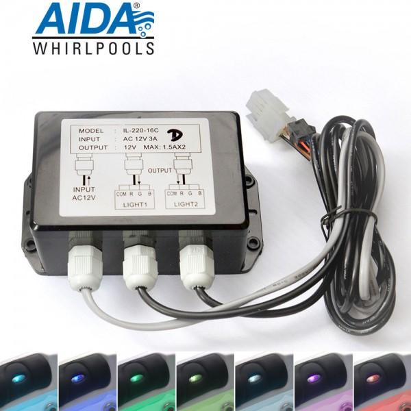 LED-Modul zur Lichtsteuerung am Whirlpool